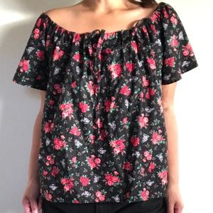 Homemade Floral Top One Size, Fits Large - XXL